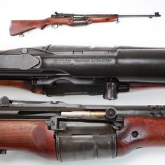"""Johnson Rifle - Not as well known as the Garand, the Johnson semi-automatic rifle offered a 10-round magazine (2 more than the M1) and could be """"topped off"""" with stripper clips. The Johnson saw limited use by the U.S. Marine Corps in the early Pacific campaign. One drawback was its short-recoil action and reciprocating barrel, limiting the weight of any issue bayonet."""