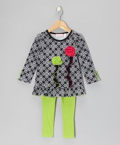 Take a look at this Black Arabesque Tunic & Leggings - Infant, Toddler & Girls by Kids Headquarters on #zulily today!
