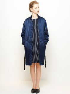 LE CIEL BLEU MA-1 Long Jacket