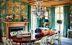 """Re-dressing, repainting, redeploying, reinventing: Refreshening is the @milesredd way. The #AD100 decorator pulled out all the stops in an early 1900s home in San Francisco when  the couple asked for a regal remodeling. Georgian tables, snapped up at auction for the dining room pictured here, now have fresh snow-white complexions. """"Why wouldn't you buy a pedestrian old sideboard, something grandmotherly, and tweak it?"""" Redd asks. """"Paint it, ebonize it, lacquer it, or gild it."""" The…"""
