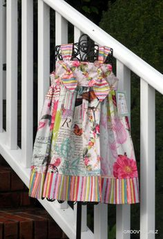 Girls Boutique Knot Dress Belle Rose Shabby Chic by GROOVYGURLZ, $47.00