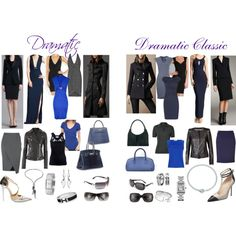 """Dramatic vs. Dramatic Classic"" by theluxejunkie on Polyvore"