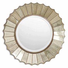 "Uttermost Amberlyn Sunburst Gold Mirror | Overstock.com - $235 - 32"" diameter"
