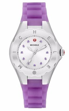 MICHELE-MWW12P000008-WOMEN-PETITE-JELLY-BEAN-TOPAZ-CRYSTALS-PURPLE-SILICON-WATCH
