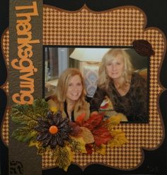 Holiday Scrapbook Page - with Thanksgiving title from Lyrical Letters cartridge - from Everyday Life Album 14