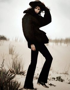 Mica Arganaraz by David Sims for Vogue Paris September 2014 | The Fashionography
