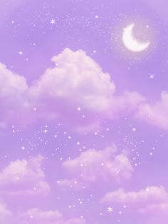 I edited this aesthetic purple sky. I drew the moon and the glitter in. Purple Aesthetic Background, Dark Purple Aesthetic, Sky Aesthetic, Aesthetic Pastel Wallpaper, Aesthetic Collage, Cute Wallpaper Backgrounds, Aesthetic Backgrounds, Aesthetic Wallpapers, Cute Wallpapers