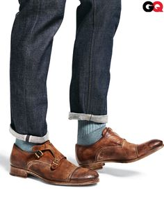 Hook + Albert contrast trim socks  $30    Available at shop.nordstrom.com.    Really, I just like the monk strap shoes.