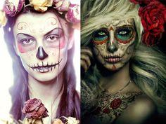 halloween-make-up-for-women-skeleton-variations-colour-colour-rosen-dried.jp … - Make Up Halloween Horror Nights, Halloween Make Up, Halloween Party, Makeup Trends, Makeup Ideas, Amazing Halloween Makeup, Halloween Face Makeup, Women Skeleton, Fantasy Make Up