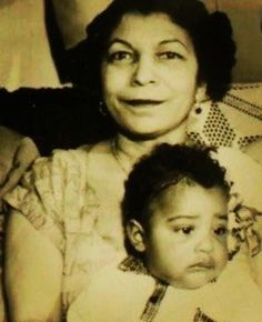 Prince and his mom
