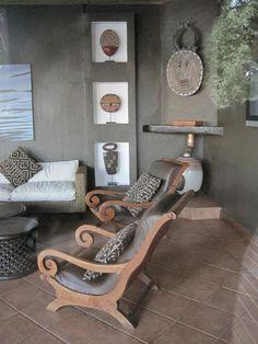 Modern take on African decor African Interior Design, African Design, Baby Furniture Sets, Wooden Furniture, Outdoor Furniture, Ethno Design, African Furniture, Global Decor, African Home Decor