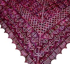Elizabeth is top-down, triangular lace shawl with charming traditional Shetland stitch patterns and motifs, designed with a modern sensibility. It looks a lot more complex than it is to knit, but don't tell any non-knitters that, of course!