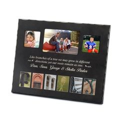 Personalized Family Photo Art Frame , Add Your Message