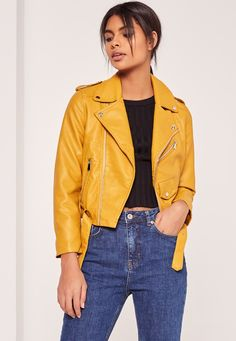 Every bad gurl needs a faux leather jacket and this mustard yellow beaut is top of our wish-list.