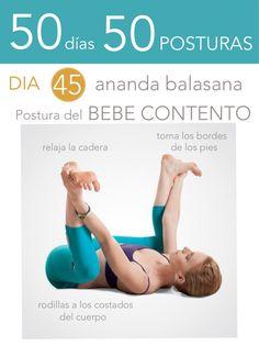 ૐ YOGA ૐ ૐ Ananda Balasana ૐ   ૐ50 días 50 posturas. Día 45. Postura del Bebé Contento.