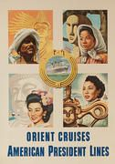 Orient Cruises - American President Lines Original Travel Poster