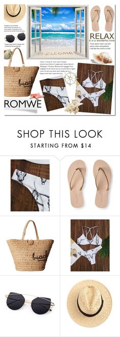 """""""White suimsuit"""" by pengy-vanou on Polyvore featuring Aéropostale and Hat Attack"""