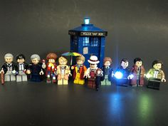 LEGO 11 doctors of DR. WHO