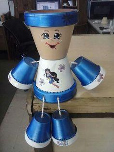 sandylandya@outlook.es  Flower pot people! With a fairy!
