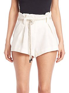 L'AGENCE Edie Paper Bag Shorts