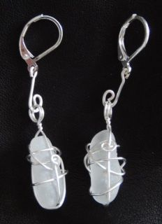 Sea glass earrings - nickel free, 925 silver plated hooks Glass Earrings, Glass Beads, Sea Glass, 925 Silver, Hooks, Silver Plate, Personalized Items, Crystals, Free