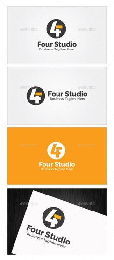 Four Studio Logo Template PSD, Vector EPS, AI Illustrator #logotype Download here: http://graphicriver.net/item/four-studio-logo-template/10359580?ref=ksioks