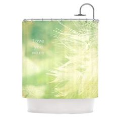 Kess InHouse Robin Dickinson Love You More Shower Curtain