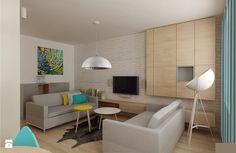 skandynawska nowoczesność i prostota Salon - zdjęcie od Archomega Biuro Architektoniczne