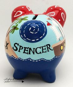 This boho chic and feather personalized piggy bank is created with porcelain ceramic and is completely hand painted using the highest quality acrylic paint. The art is forever protected by a glossy diamond finish glaze. Each piggy bank is hand painted especially for you on an individual