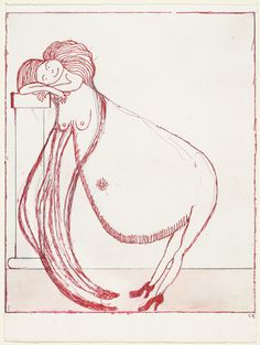 Louise Bourgeois. Pregnant Woman Leaning on a Column, state I. (2001)