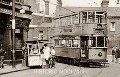 Historical photographs of Woolwich, London London History, Bus Coach, London Transport, Light Rail, Vintage London, Bus Stop, Vintage Photography, Old Photos