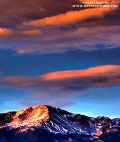 Pike's Peak in Colorado (for which America the Beautiful was written) ~for purple mountain majesties~