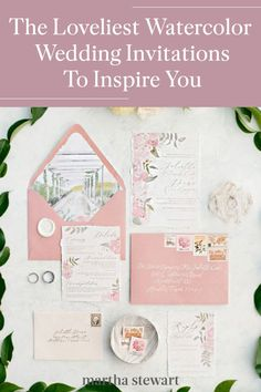 Discover more of our favorite watercolor wedding invitation suites, created for the most special of days—they just might inspire your own beautiful wedding invitations. #weddingideas #wedding #marthstewartwedding #weddingplanning #weddingchecklist Green Wedding Invitations, Beautiful Wedding Invitations, Wedding Invitation Suite, Wedding Stationery, Watercolor Wedding Invitations, Casual Wedding, Wedding Trends, Wedding Couples, Weddingideas