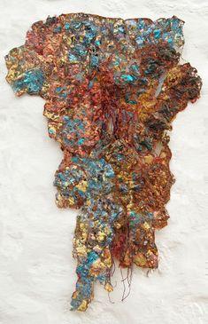 Sue Hotchkis Fibre Artist stitched abstract art Textile Fiber Art, Textile Artists, A Level Textiles, Textiles Techniques, Contemporary Embroidery, Plastic Art, A Level Art, Texture Art, Art Sketchbook