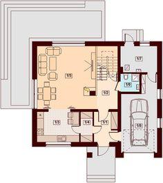 Projekt domu Marsala 128,48 m² - koszt budowy - EXTRADOM Marsala, Projects To Try, Floor Plans, Houses, Marsala Wine, Floor Plan Drawing, House Floor Plans