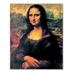 The Monna Lisa, just a bit changed, mostly to adapt her to modern time looks and colors
