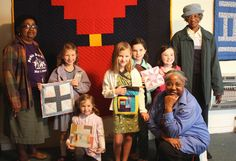 Crestwood Day School Students and the Women of Gee's Bend [renamed Boykin, a small community in the Black Belt of Alabama.] It started when hundreds of slaves were brought down from North Carolina by the Pettway Family. Their quilts have now hung in museums across the country.