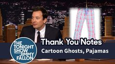 Thank You Notes: Cartoon Ghosts, Pajamas Ghost Cartoon, Tonight Show, Jimmy Fallon, Thank You Notes, Ghosts, Make You Smile, Pajamas, Sayings, My Love