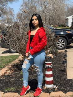 Shop link website search to get the fashion coat # baddie Outfits urllyShe Lace Up Slogan Print Loose Denim Jacket Cute Swag Outfits, Cute Comfy Outfits, Cute Outfits For School, Chill Outfits, Girly Outfits, Simple Outfits, Trendy Outfits, Dope Fall Outfits, Everyday Outfits
