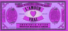Love potion label: don't think it is high enough quality to print :-(