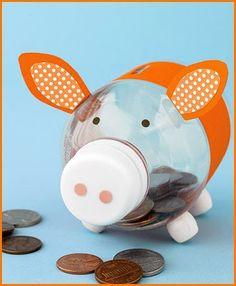 Bottle piggy bank!