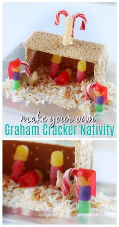 Change things up a bit this holiday season and make a graham cracker nativity instead of a house this year! A fun twist and easy for kids to make.