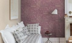 Tapet vinil mov floral PC 2703 Grand Deco Persian Chic-2 Persian, Flooring, Floral, Home Decor, Christians, Decoration Home, Room Decor, Persian People, Flowers