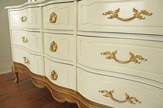 Portfolio: Gold Dipped French Provincial Dresser by HayleonVintage