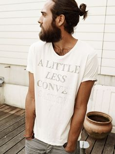 A little less conversation shirt | Christian Göran. The beard!
