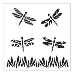 Visit The Home Depot to buy FolkArt Dragonflies Small Painting Stencils 30621 Dragonfly Painting, Dragonfly Art, Cnc, Paper Architecture, Free Stencils, Ceramics Projects, Art Projects, Insect Art, Stencil Painting
