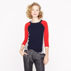Image result for j crew cashmere colorblock sweater