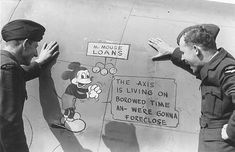 WWII, in 1944 when the Allied Forces, under Gen. Eisenhower, prepared to invade Europe, the Code name for the invasion was Mickey Mouse.