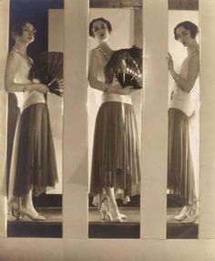 Baron Adolph de Meyer. Chantal à la robe. Chloé 1929.