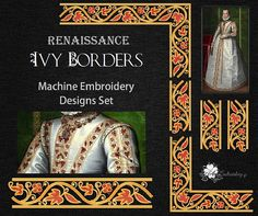 Renaissance Ivy Borders  Machine Embroidery Designs Set for